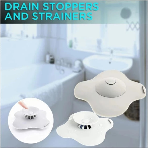 2-In-1 Sink Drain Stoppers and Strainers