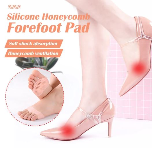 Silicone Honeycomb Forefoot Pads
