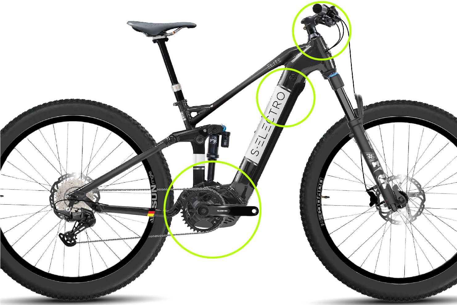 S-Electro Elite AL 1 dual-suspension eBike