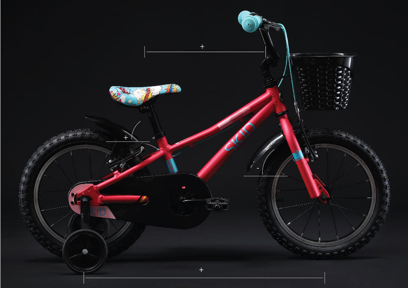 silverback skid 16 kids bike easy ride geometry