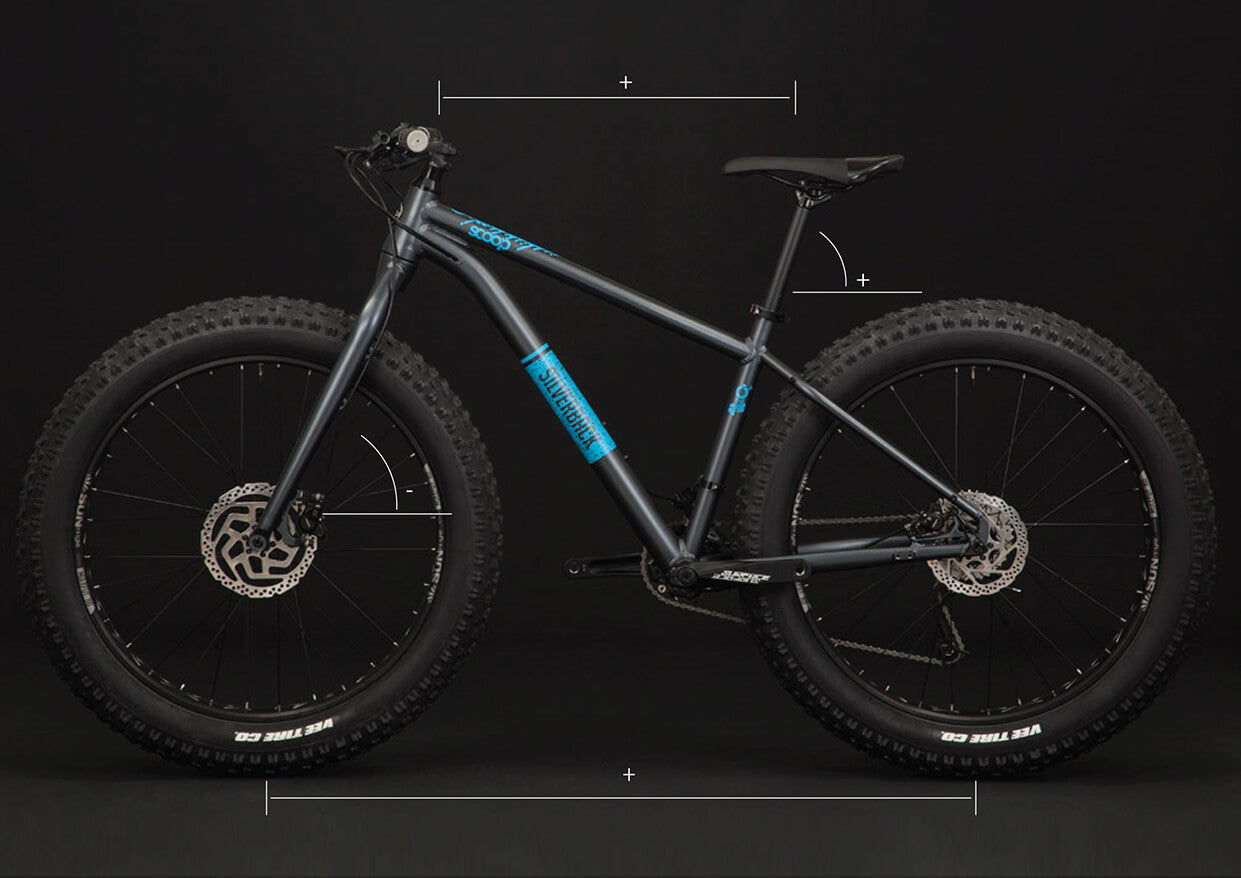 silverback scoop delight fat bike hydro formed frame