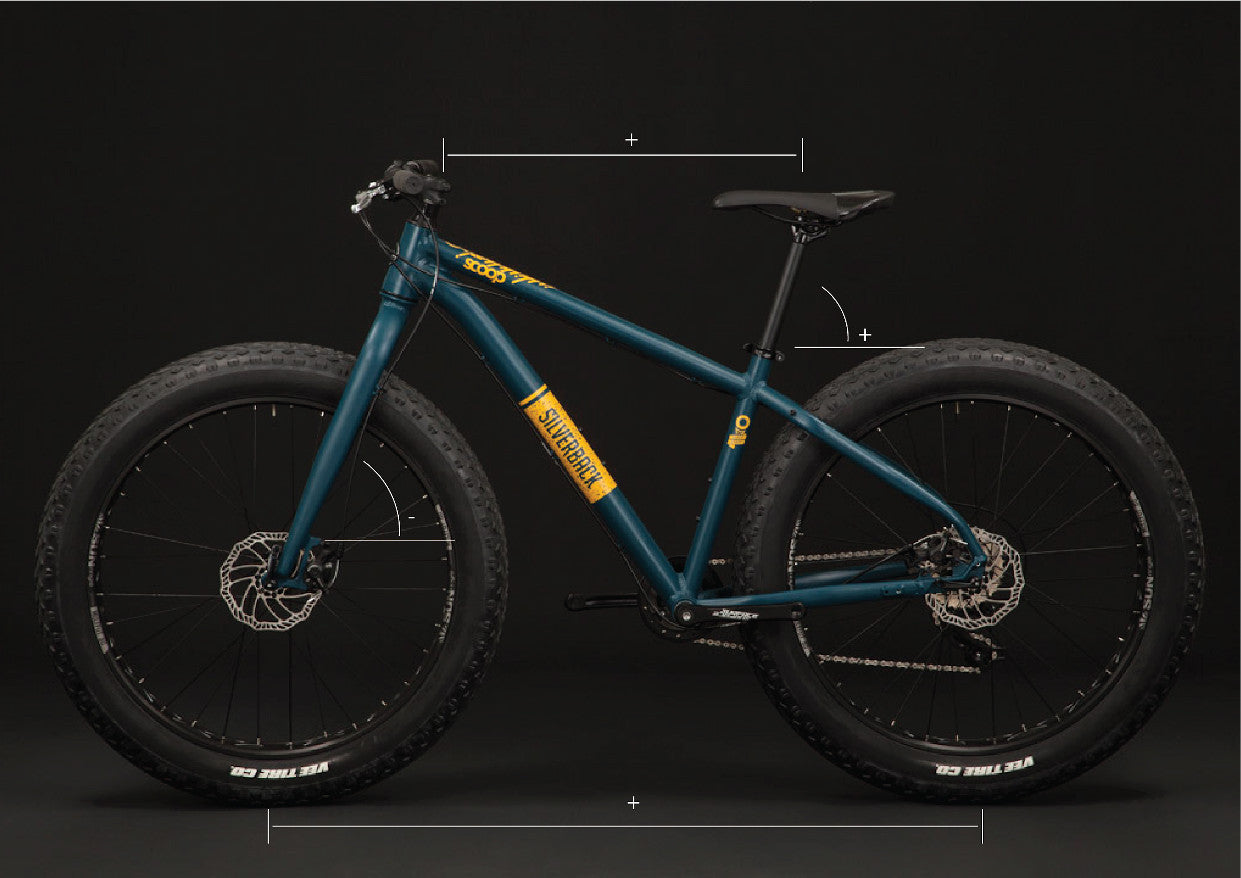 silverback scoop sport fat bike hydro formed alloy frame