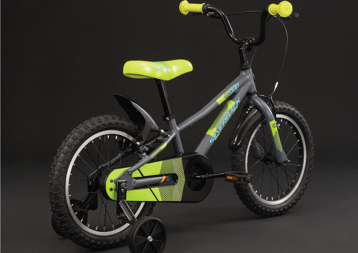 silverback skid 16 kids bike low stand over