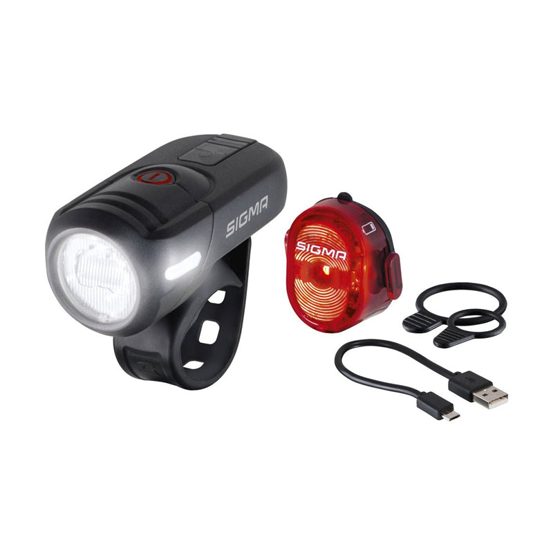Aura 45 USB NUGGET II RL Set - Lighting - cycling - bike - light - rear and front - Sigma - - - - Speedlab