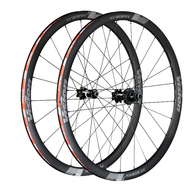 Vision Trimax 35 Disc TL Wheelset - 6 Bolt rotor mount