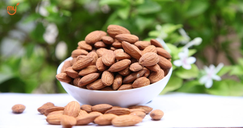 Almonds on mymillets - Rs 880 per Kg
