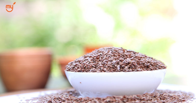 Bowl full of flax seeds