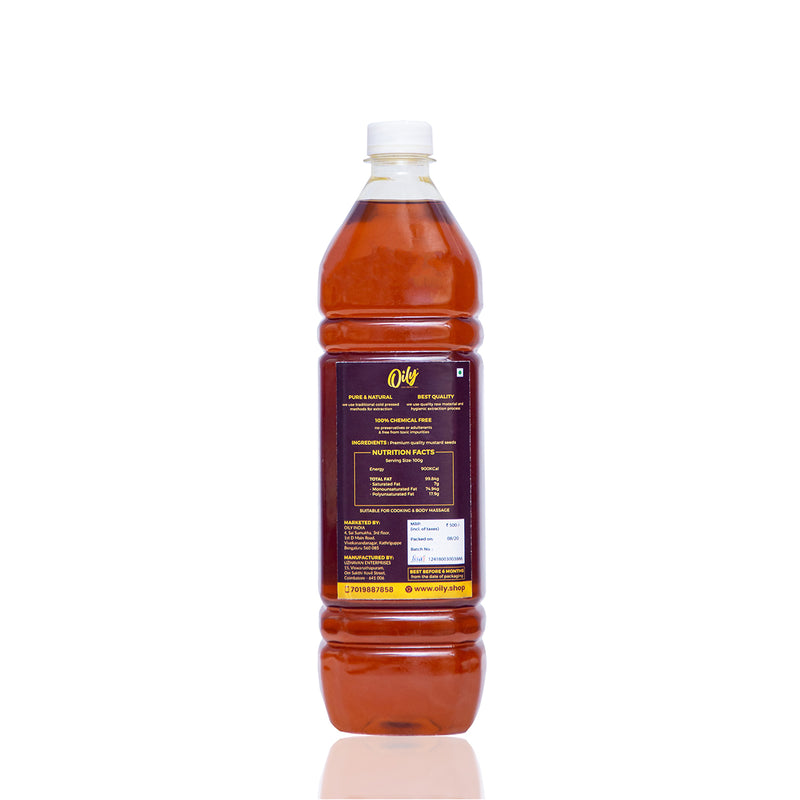 Mustard Oil - Cold Pressed (1000 ml / 500 ml)
