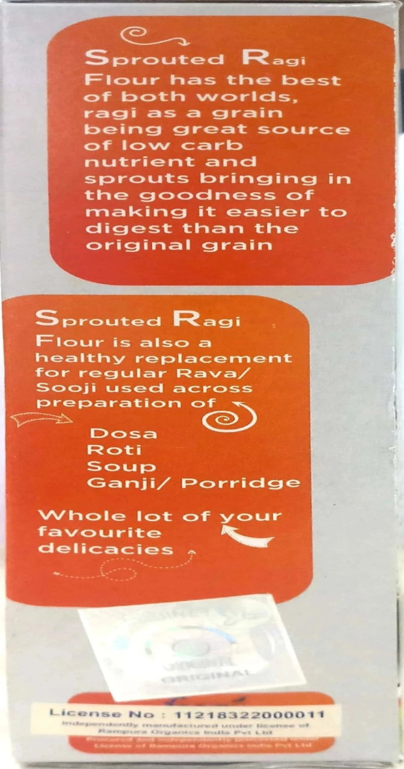 Rampura Sprouted Ragi Flour - (Pack of 2x300g)