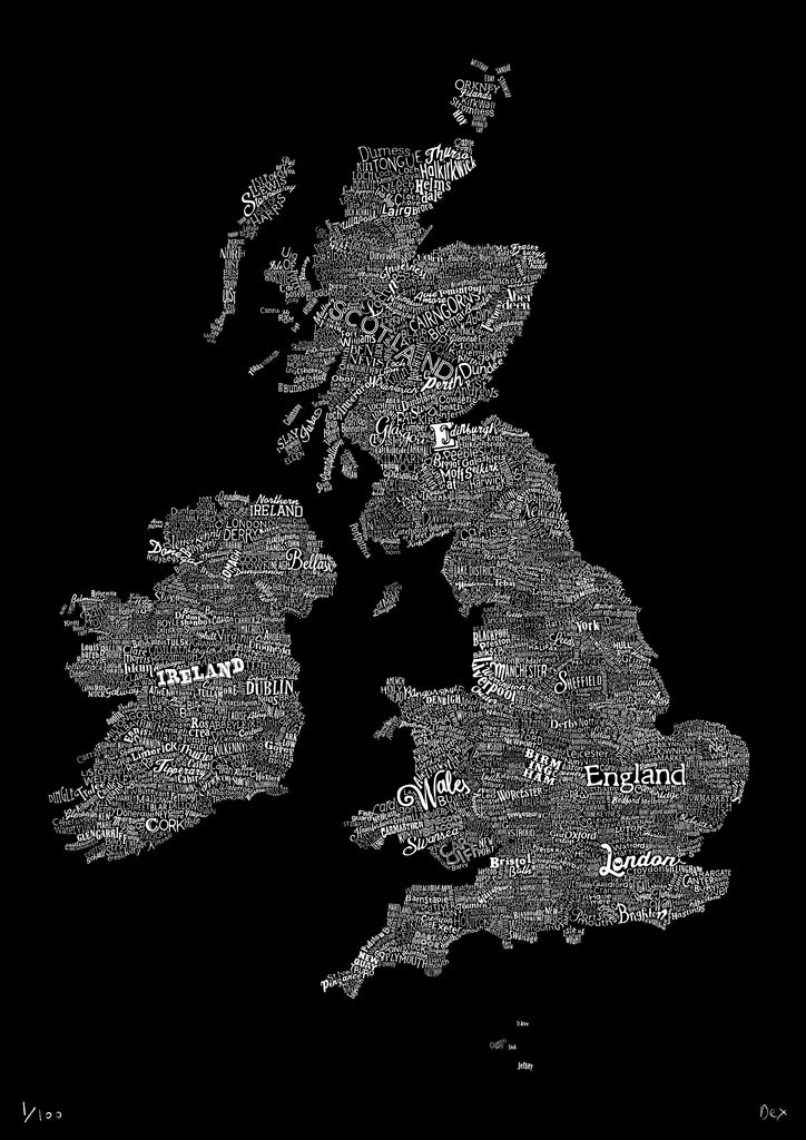 The Great British Type Map