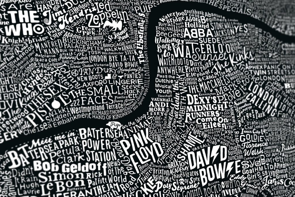 Music Map Of London (Black, 2018)