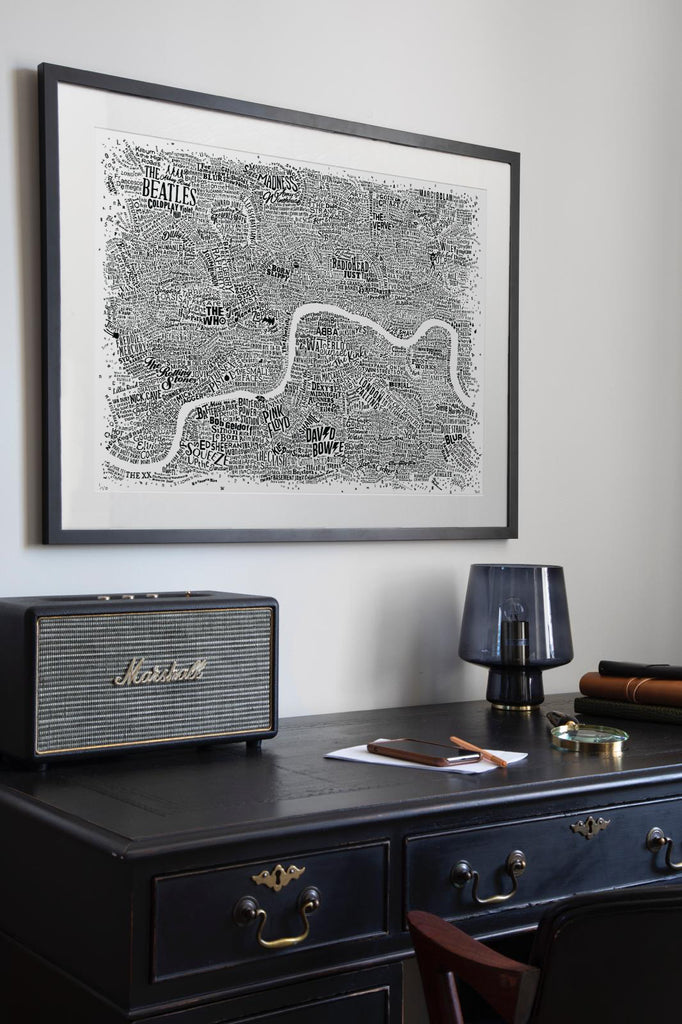 Music Map Of London (White, 2018)
