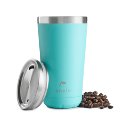 Shole Aqua 16oz Stainless Steel Coffee Cup