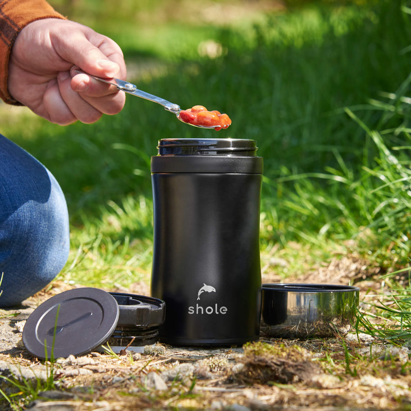 Shole Double Walled Food Flask Black 500ml Capacity