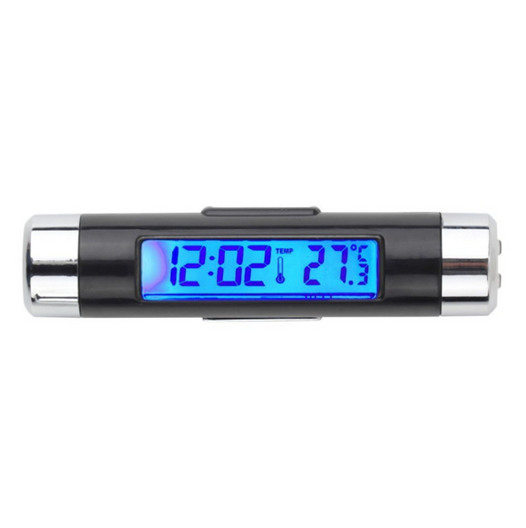 2 in 1 Digital Clock for Car LCD Temperature Thermometer Clock