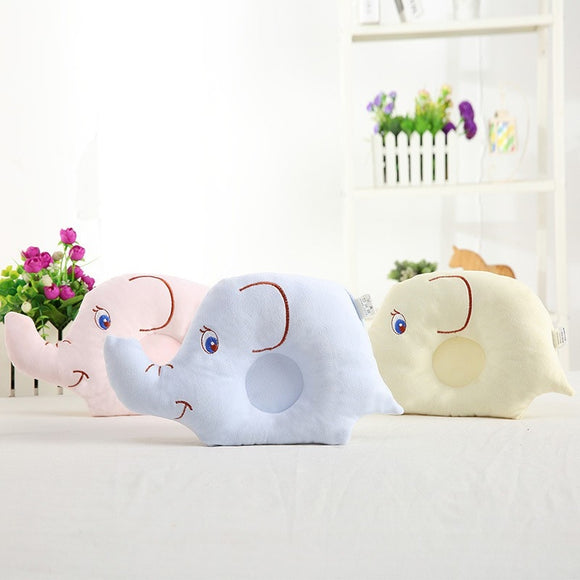 0-24M Newborn Baby Pillow Flat Head Sleeping Positioner Support Cushion Prevent Bebe Elephant Styling Pillow Gift L1