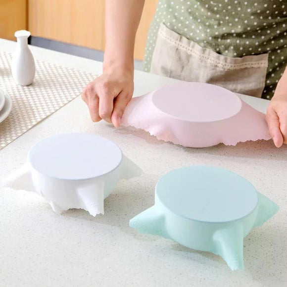SILICONE MICROWAVABLE DISH COVERS