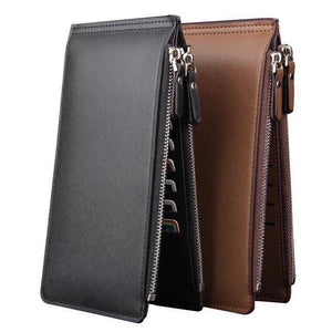 LONG PURSE AND CARD ORGANIZER DOUBLE ZIPPER