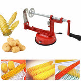Manual Red Stainless Steel Twisted Spiral Potato Cutter