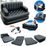 INFLATABLE BED AND SOFA ALL IN ONE