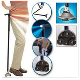 FOLDING WALKING STICK WITH LED FLASHLIGHT