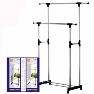 Double Pole Drying Rack For Clothes