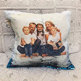 Diy Decorative Pillows For Sofa Modern Picture customization cushion cover Color Changing Glitter Sequins  40*40
