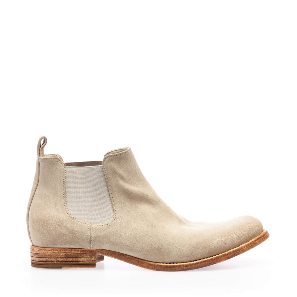 Sand crustt ankle boot with double side elastic