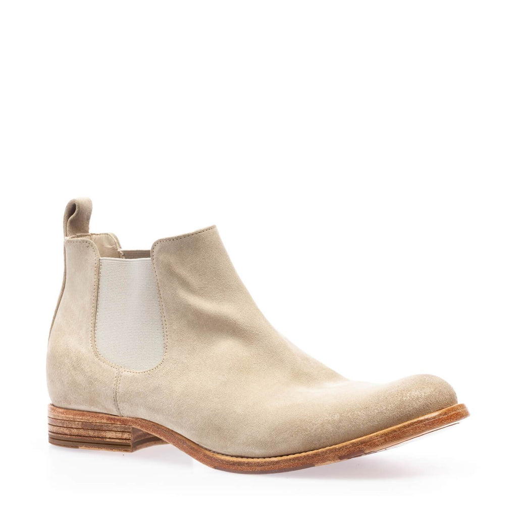 Sand crust ankle boot with double side elastic