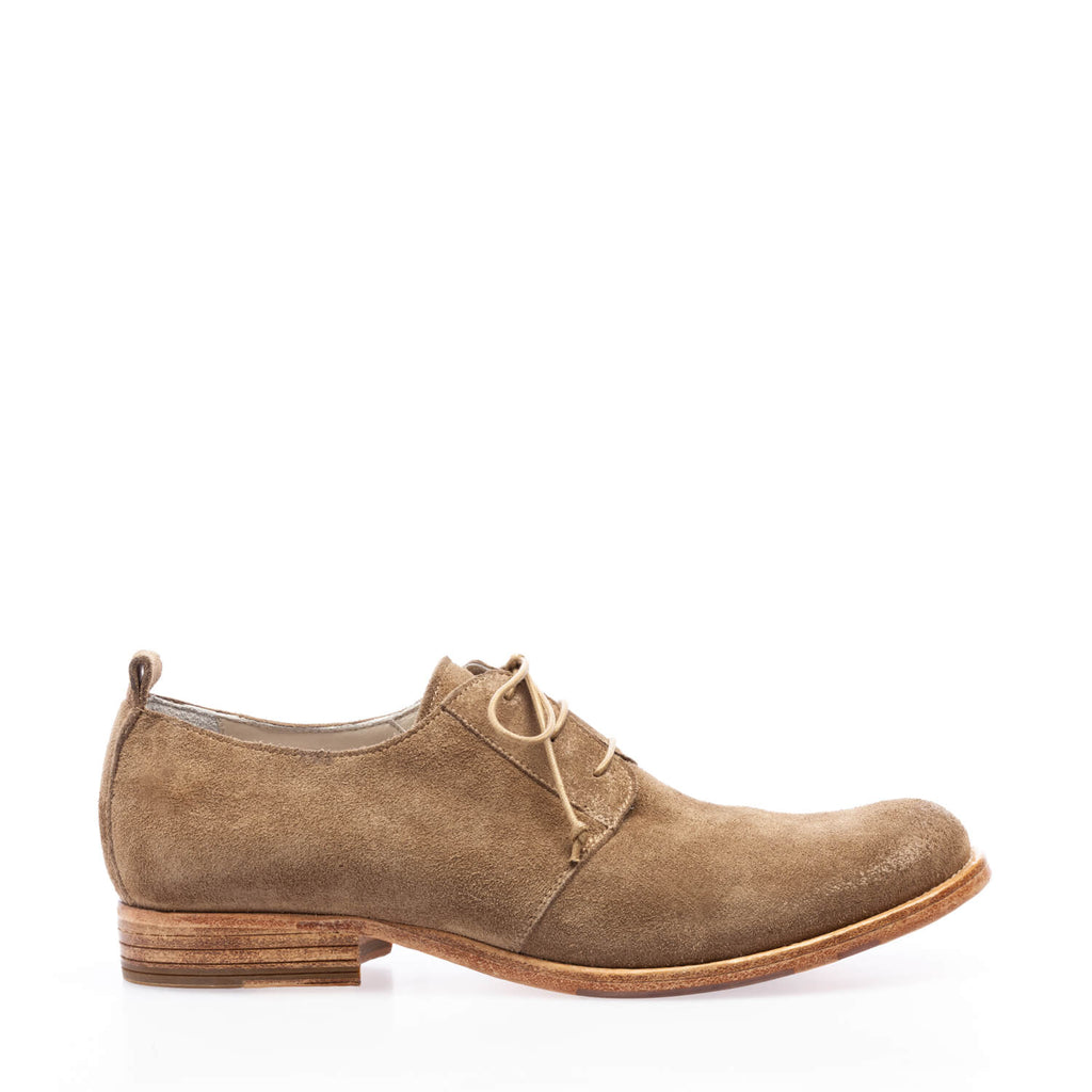 Sand crust low lace-up shoe
