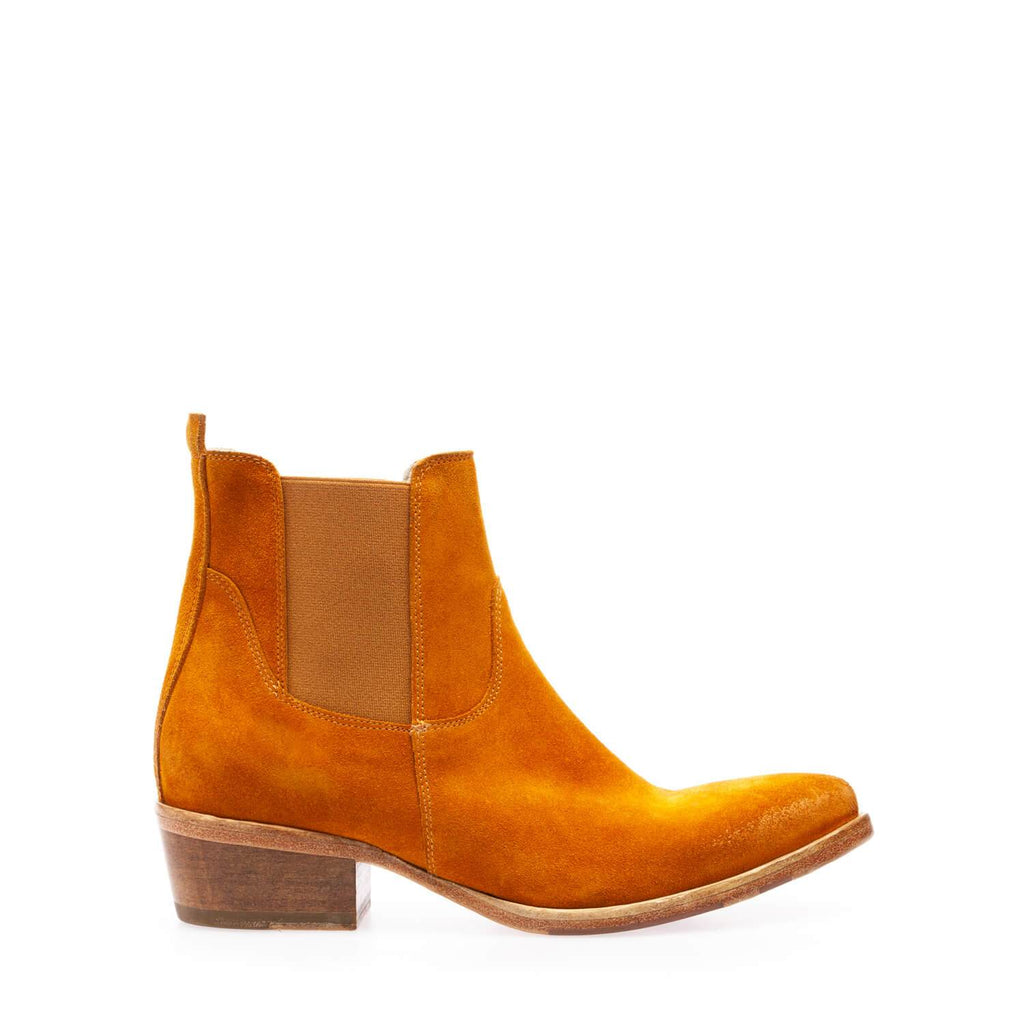 Caramel crust texan boot with double side elastic