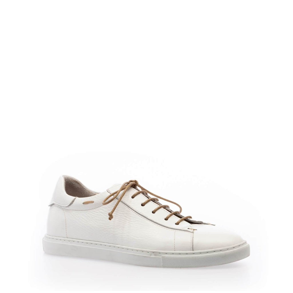 White calfskin low sneaker
