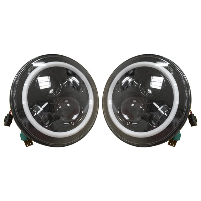 Land Rover Defender Halo Headlights with LED DRL and Indicator - Pair G05-001-003