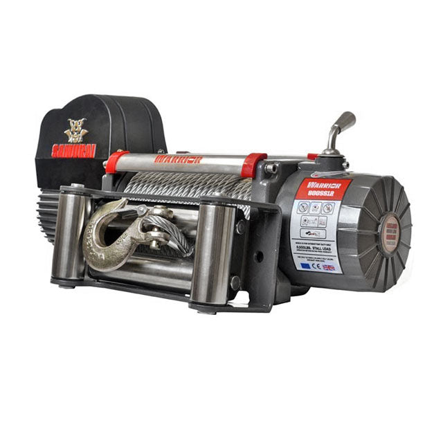 G21-001-008WR Warrior Winch 8000lb 12v Steel SAMURAI
