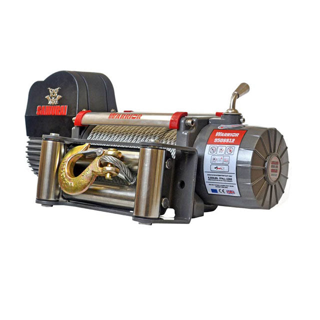 G21-001-010WR Warrior Winch 9500lb 12v Steel Cable