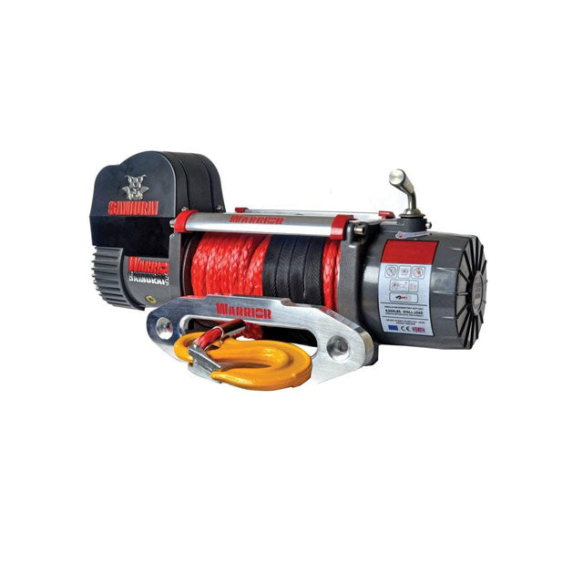 G21-001-011SR Warrior Winch 9500lb 12v Synthetic Rope