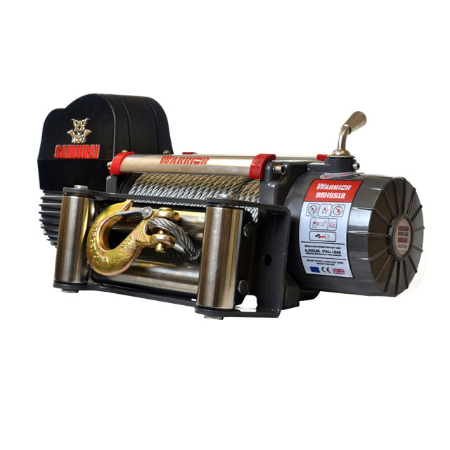 G21-001-011WR Warrior Winch 9500lb 12v Steel Cable