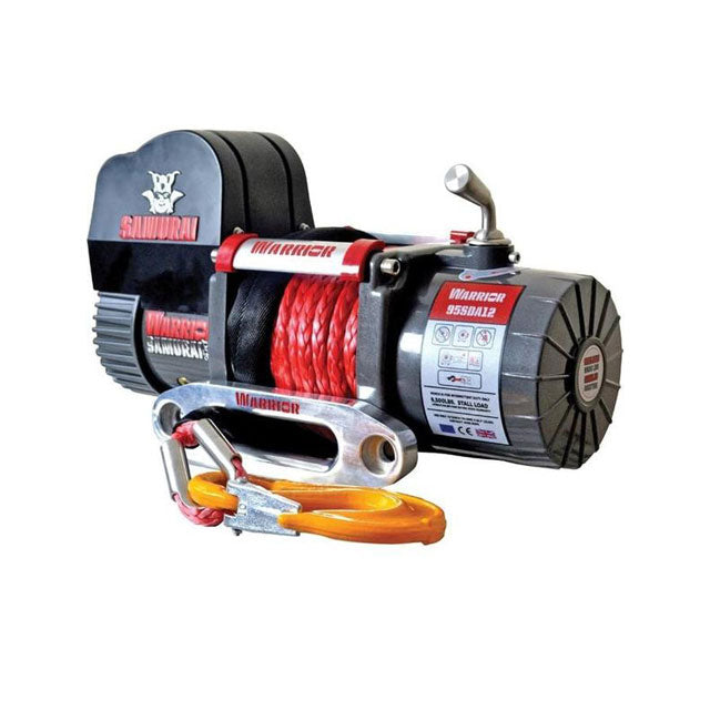 G21-001-012SR Warrior Winch 9500lb 12v SD Synthetic Rope