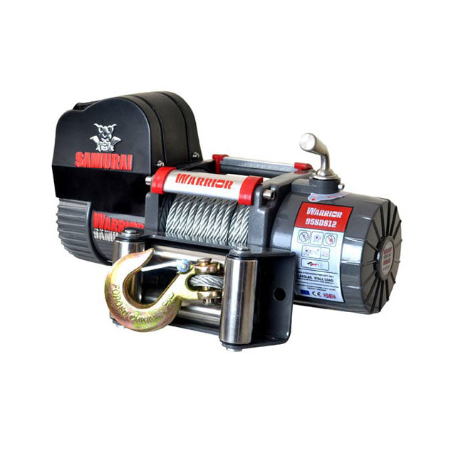 G21-001-012WR Warrior Winch 9500lb 12v SD Steel Sable