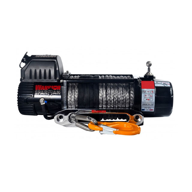G21-001-013SR  Warrior Winch 9500lb 12v Synthetic Rope
