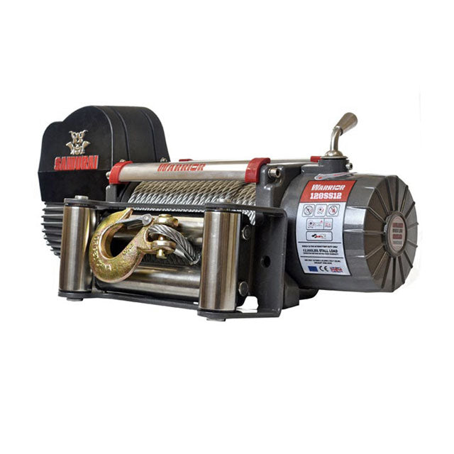 G21-001-014WR Warrior Winch 12000lb 12v Steel Cable