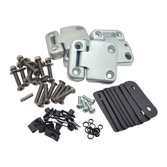 Front 2 Door Hinge Kit With Puma Style Fittings Land Rover Defender GBR-DA1070SS