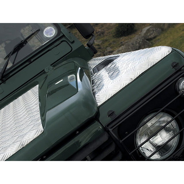 Land Rover Defender Bonnet Protector Chequer Plate GBR-DA2066