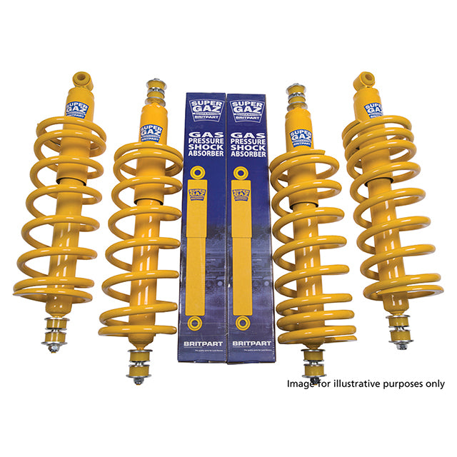 GBR-DA4284  Heavy Duty Super Gaz Shock Absorbers and Spring Suspension Kit