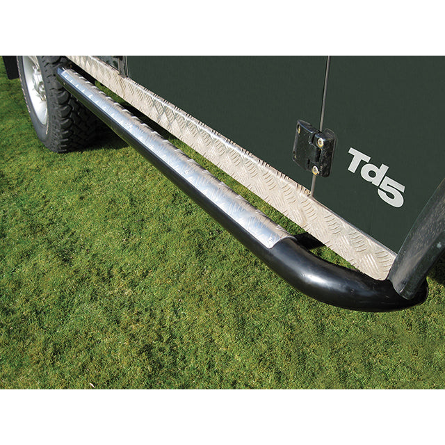 Defender 110 Side Steps - Tomb Raider Style Tree Sliders / Protection Bars GBR-DA7011