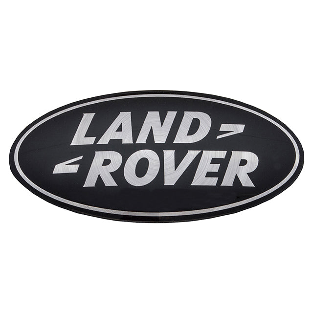 Oval Badge Self Adhesive Land Rover Discovery Range Rover Black Silver GBR-DAG500160