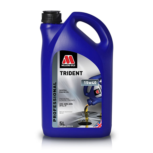 Millers Trident Mineral Engine Oil - 15w40 - 5L GMO-5752GB