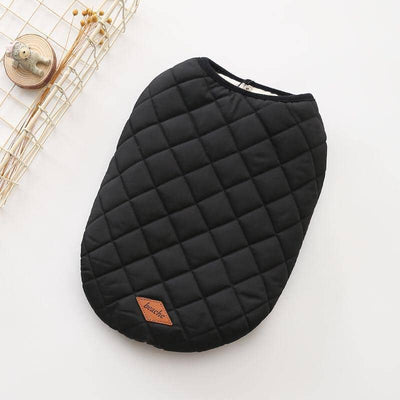 Dog Achromatic Quilted Vest Jacket | Small to Medium Dog Fashion Clothing | BowWow shop Online