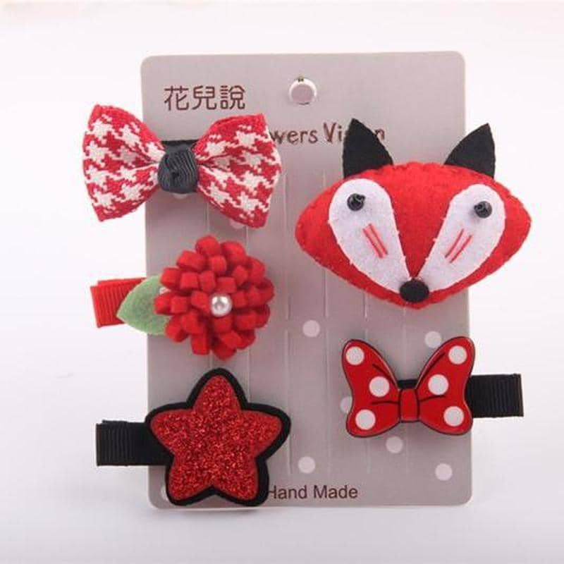Red Animal Hair Clip Pack for dogs, dog clothes, small dog clothes, dogs clothing, dog clothes female, dogs clothes boy, Dogs Clothes For Small To Medium Dog, Elfie, BowWow Shop - Top Dog Clothing Store