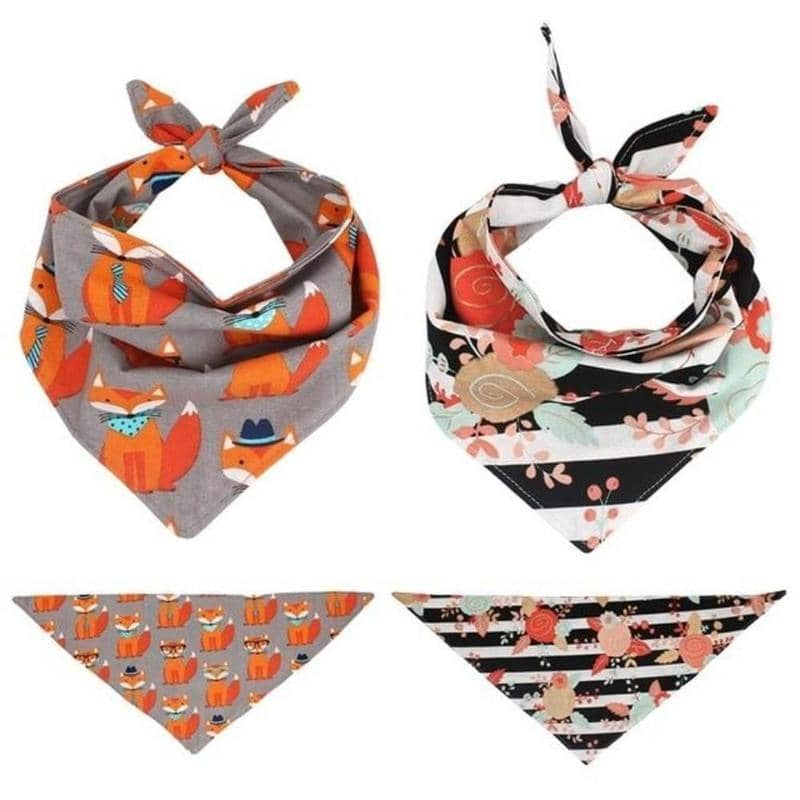 Dog Autumn Dog Bandana Twin Set | Small to Medium Dog Fashion Clothing | BowWow shop Online
